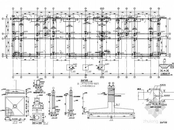 [聊城]四层框架结构综合办公楼结构施工图