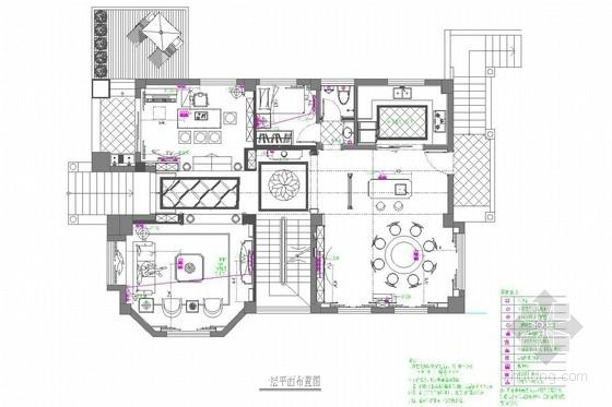 [泉州]时尚生活中心简欧三层别墅室内装修图
