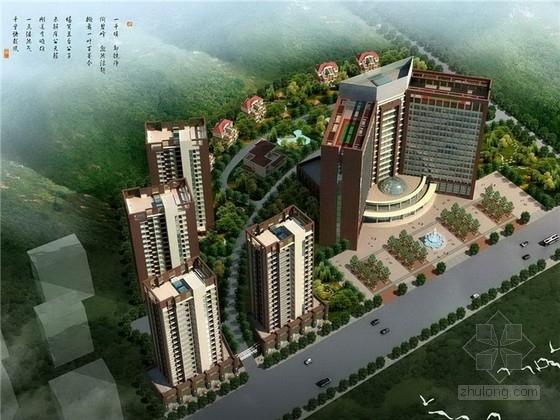 现代风格高层酒店及住宅设计方案文本(含CAD)