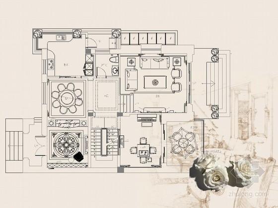 [福州]独特古典欧式三层别墅家具方案图