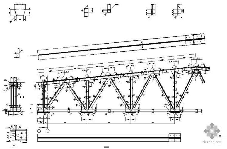 [学士]某焊接梯形钢屋架课程设计(含计算书、图纸)