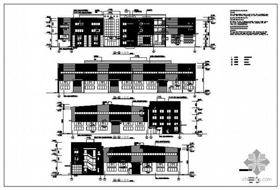 上海某生产车间辅助用房建筑结构图