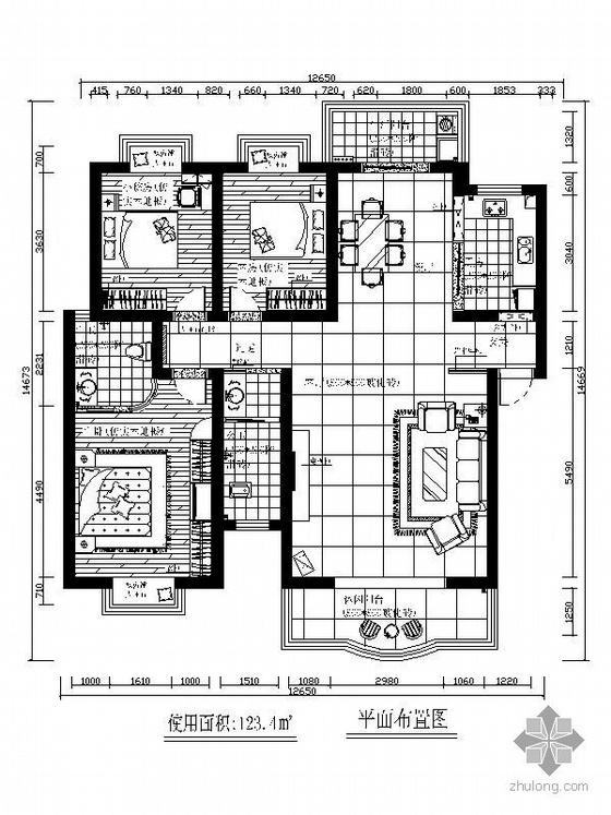 [湖南]三室两厅设计方案