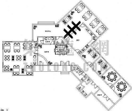 某茶室建筑平面图设计方案