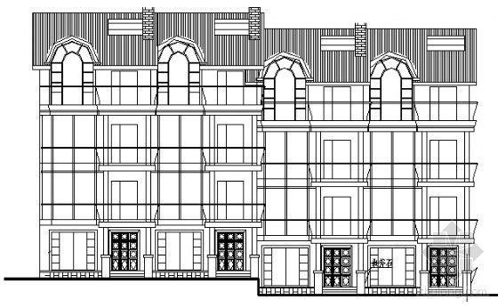 某二层坡地别墅(带阁楼)建筑方案图