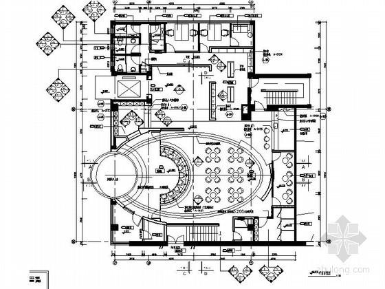 [成都]欢乐谷某局部办公空间室内施工图