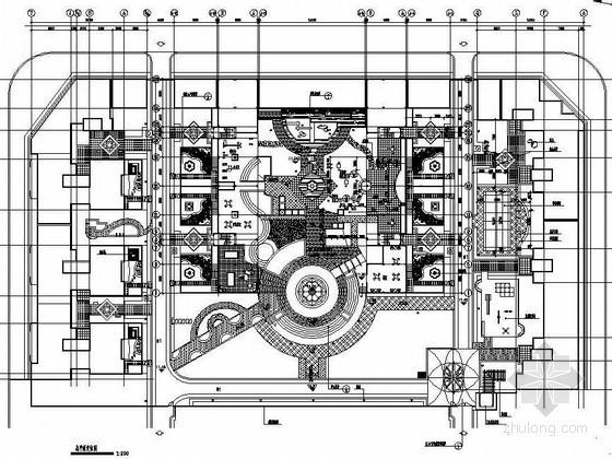 珠海某小区园林广场景观设计施工图