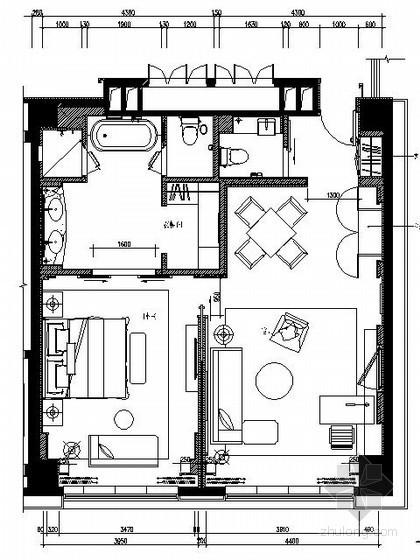 [成都]五星酒店标准套房施工图