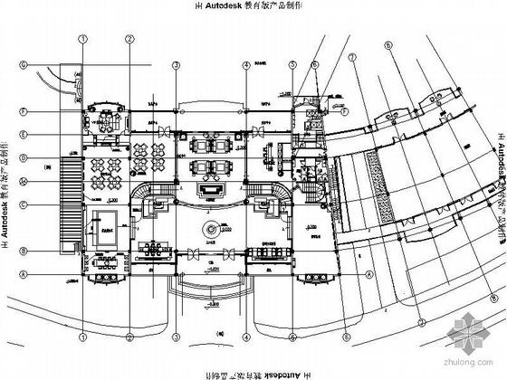 [武汉]某会所入口大堂装修图