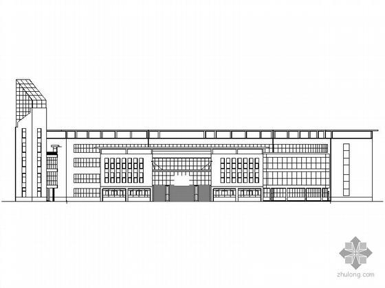 [临汾]某中学图书馆建筑施工图(含效果图)