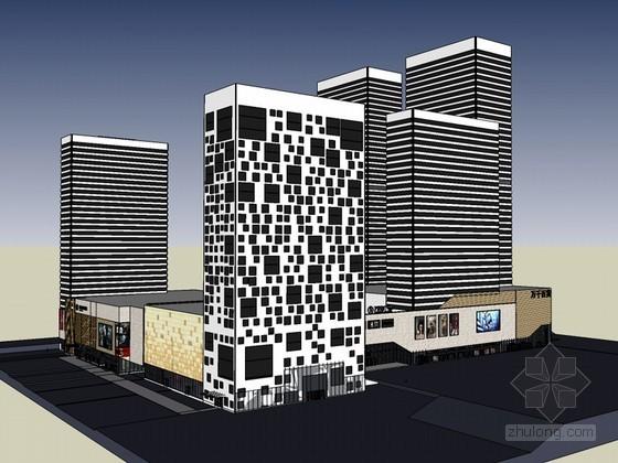大气商业建筑SketchUp模型下载