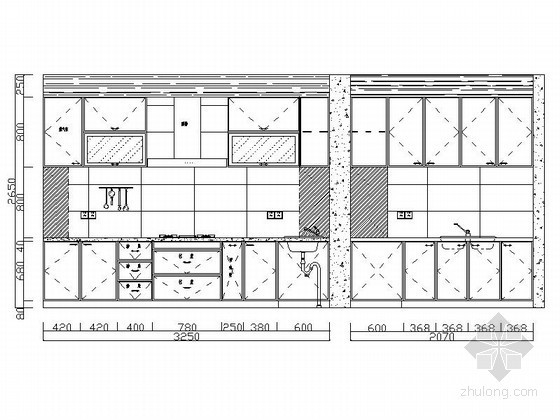 免费下载!各式厨房立面CAD图块下载