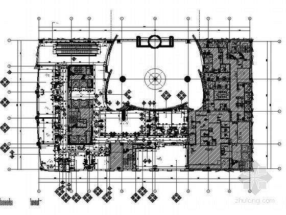[芜湖]广场商业圈典雅新中式风格餐厅装修施工图(含效果)