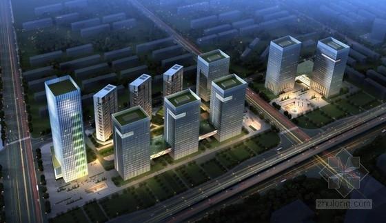 [南京]现代化盘曲游动造型多功能城市综合体建筑设计方案文本