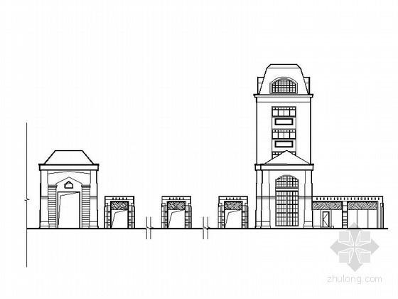 [营口]某居住区欧式大门建筑施工图