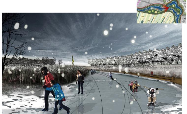[辽宁]国家试点湿地公园景观规划设计文本-冬季滑冰效果图