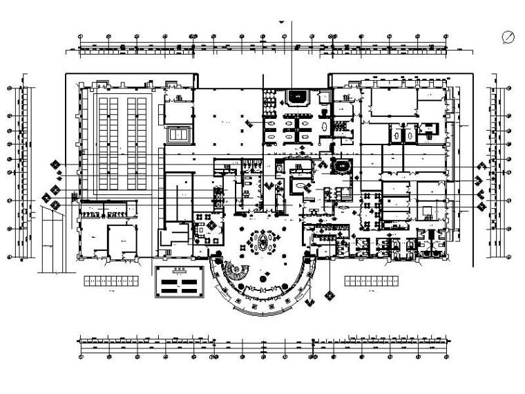 [内蒙古]欧式新古典异域风情休闲水疗会所CAD施工图(含效果图)