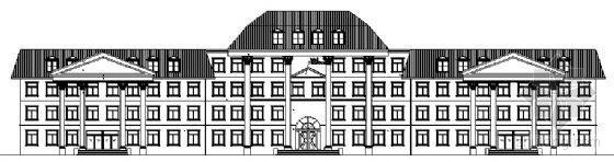 某四层办公楼建筑方案图