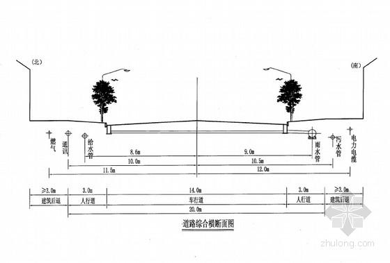 [安徽]20米宽城市支路设计图纸189张(含路灯 给排水)