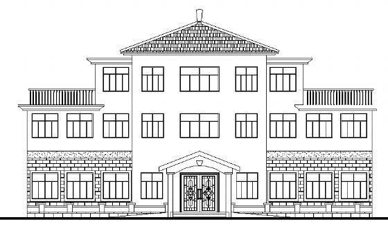 老年活动中心建筑施工图