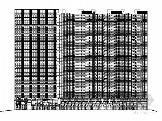 某环球商务中心区(6号楼)商业步行街建筑群方案(文本及CAD方案)