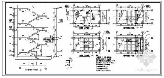 某六层框架结构楼梯节点构造详图