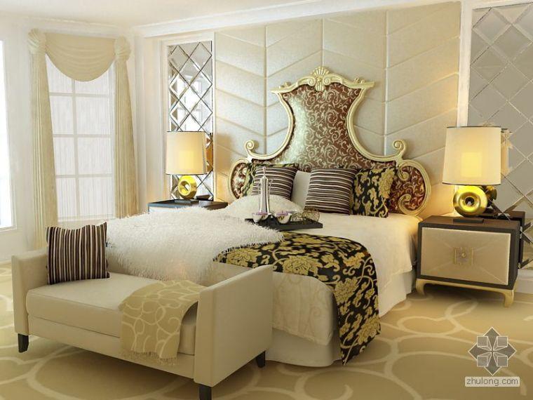 欧式贵族床资料下载-欧式 卧室