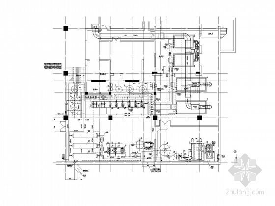 商业地下锅炉空调通风排烟系统施工图(内设燃气锅炉及热交换器)