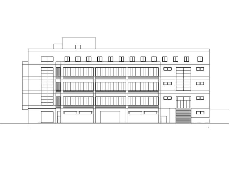 [江西]五层大学食堂建筑施工图(含水暖电及pkpm模型)