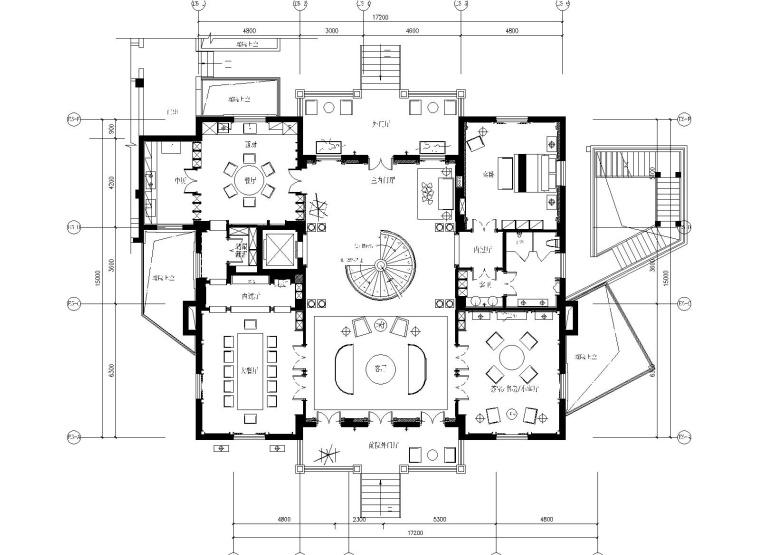 [浙江]香港无间-宁波迪赛江山99四居室别墅样板房全套施工图+官方摄影