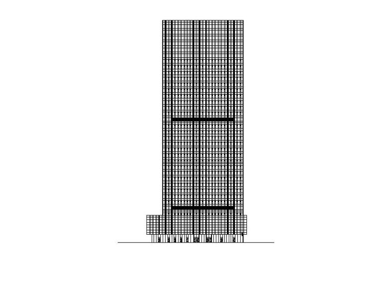 [深圳]超高层框架核心筒结构企业办公楼建筑施工图