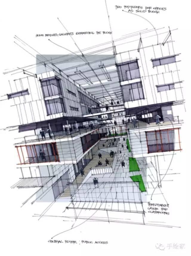 百年经典建筑设计手绘图_31