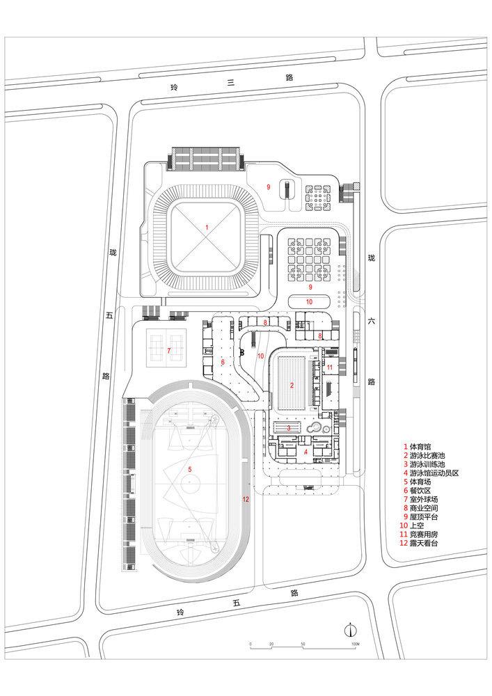 临安半透明轻盈的体育文化会展中心平面图 (25)