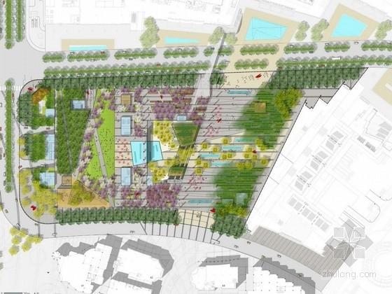 [苏州]城市文化广场景观规划设计方案(著名景观公司)