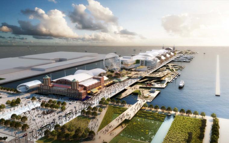 [美国]芝加哥海军码头NavyPier重建项目竞标方案文本合辑(700+页PDF)