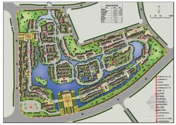 [广东]岭南水乡旅游文化街区概念规划设计方案文本-岭南水乡旅游文化街区概念规划总平面图