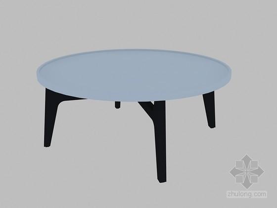 圆形茶几3D模型下载