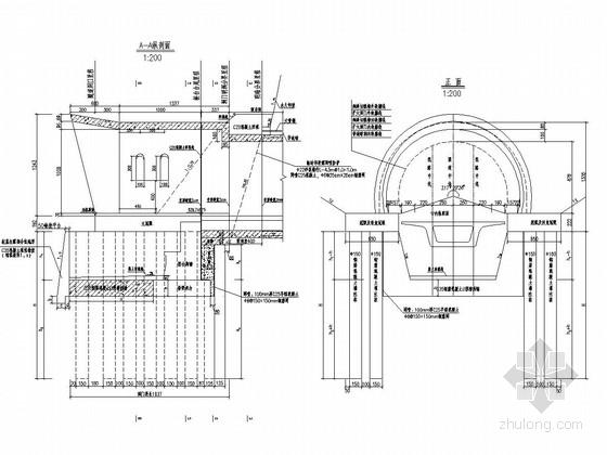 双线隧道桥隧串接洞口设计图17张(知名大院)