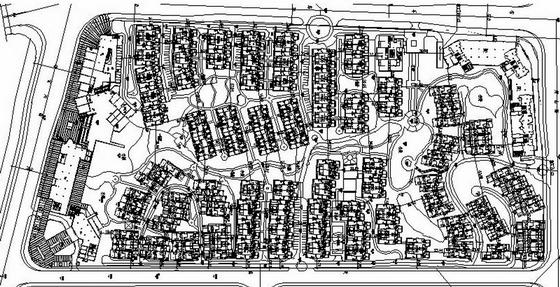 长沙地产项目总平面图