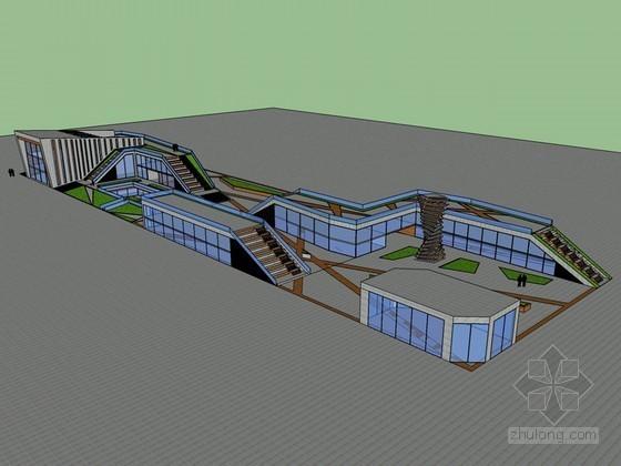 城市休闲建筑SketchUp模型下载