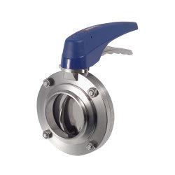 INOXPA焊接式蝶阀阀体可以与任何连接方式互换