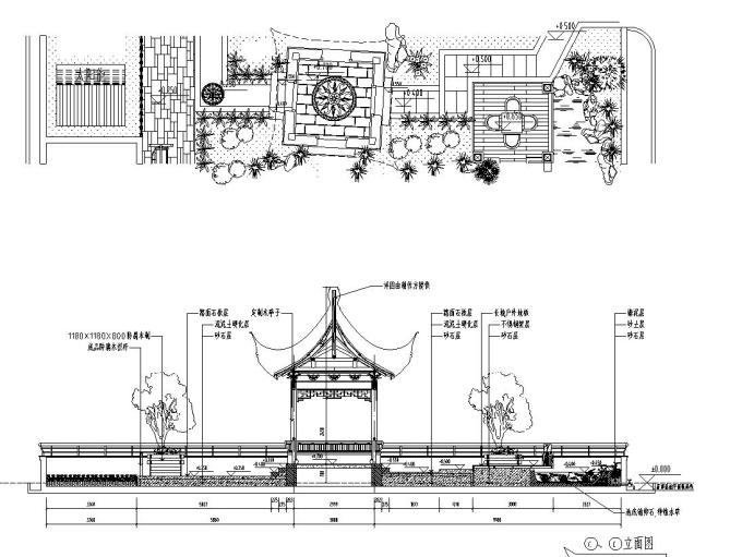 屋顶花园别墅庭院景观设计CAD施工图_1