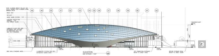 弧形镜面天花板内的地铁站-23