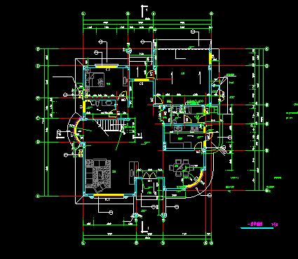 经典别墅建筑图纸_5