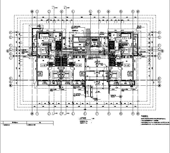 [吉林]多层框架剪力墙结构度假区住宅建筑施工图_3