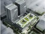[深圳]高层窗洞立面现代风格档案中心建筑设计方案文儿