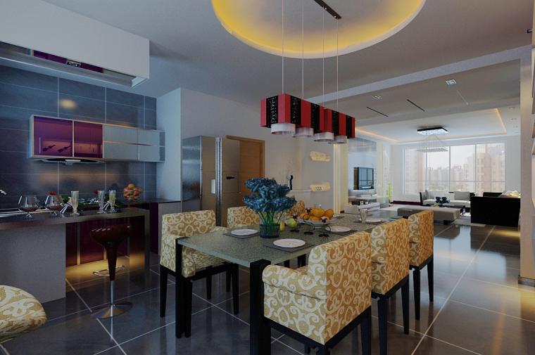 106平米三居室现代简约风格设计