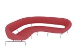 红色休闲沙发3D模型下载