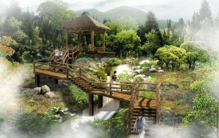 [重庆]空谷幽兰特色旅游度假村景观设计方案