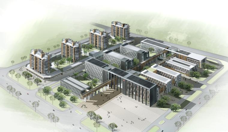 [河南]市级现代风格高层医院建筑设计方案文本